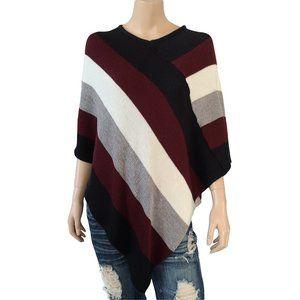 MAJORA Tri Color Sweater Poncho S/M/PM